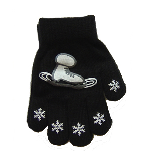 Snowflake & Skate Stretch Gloves