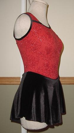 RED ROSES Glitz Skating Dress AL